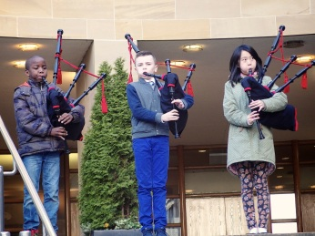 Damilola-Fadun-Thomas-Rankine-Brenda-Sheng-Glasgow-Royal-Concert-Hall-The-Wee-Govan-Pipers-Pìobairean-Beaga-Bhaile-Ghobhainn-media-co-op