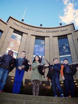 Damilola-Fadun-Thomas-Rankine-Brenda-Sheng-David-Rice-and-Scott-McCormick-Glasgow-Royal-Concert-Hall-The-Wee-Govan-Pipers-Pìobairean-Beaga-Bhaile-Ghobhainn-media-co-op