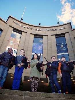 Damilola-Fadun-Thomas-Rankine-Brenda-Sheng-David-Rice-and-Scott-McCormick-Glasgow-Royal-Concert-Hall-The-Wee-Govan-Pipers-Pìobairean-Beaga-Bhaile-Ghobhainn-media-co-op